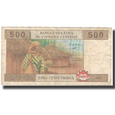 [#575592] Banknote, Central African States, 500 Francs, 2002, 2002, KM:306M