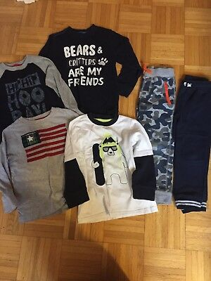 Gymboree Toddler Boy Size 4t Lot Shirts And Pants 6 Items