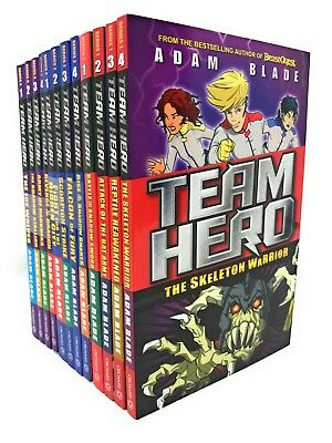 Team hero Series 1-3 Falcon of Fury 12 Books Set Collection By Adam Blade