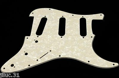 NEW PICKGUARD STRATOCASTER SSS pearl aged white 3 ply pour guitare strat