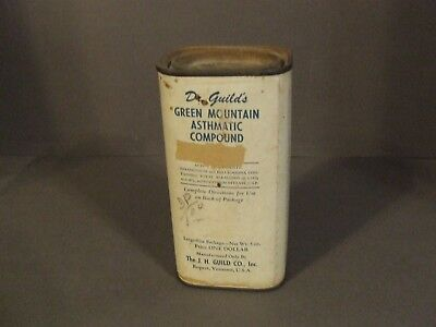 Antique  Dr Guilds's Green Mountain Asthmatic Compound Quack Medication Unopened