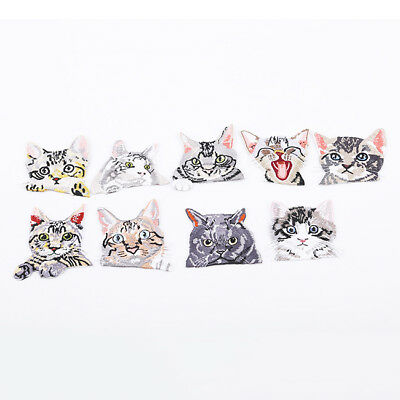 Embroidered Clothing Patches Badge Hole Repair Pocket Sticker Cats Decor Jian