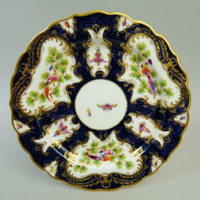 Royal Worcester Antique Porcelain Blue Scale Ground Porcelain Cabinet Plate 1906