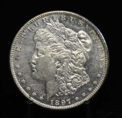 1897-S Choice BU Morgan Silver Dollar [11DUD]