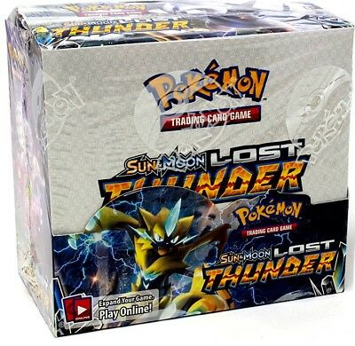 Pokemon Sun & Moon Lost Thunder Booster Box Blowout Cards