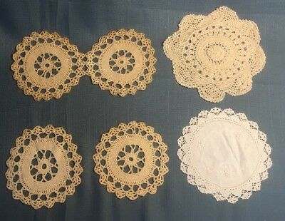 Lot Of (5) Vintage Doilies