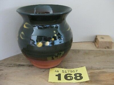 St. Fagan's Pottery Wales Welsh Folk Museum Green and Yellow Vase