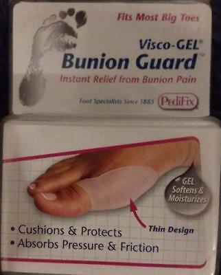 PEDIFIX Visco Gel BUNION GUARD for Big Toes CUSHION PROTECT MOISTURIZE New