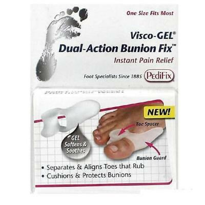 PEDIFIX Visco Gel DUAL ACTION BUNION FIX  CUSHION PROTECT SEPARATE ALIGN TOES