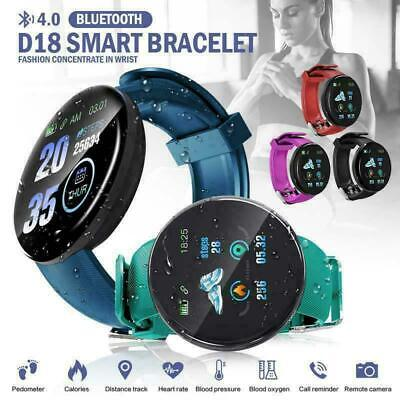 Bluetooth Smart Watch Android Fitness Tracker Pedometer For Samsung iPhone iOS