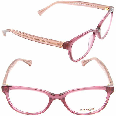 dd69362e0a2c Coach Eyeglasses HC6072 5329 50mm Black Cherry Glitter Crystal Cherry Demo  Lens