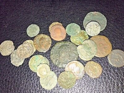 Lot of 24 Uncleaned ANCIENT ROMAN COINS AG to G