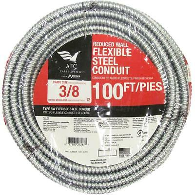 AFC Cable Systems 3/8 x 100 ft. Flexible Steel Conduit