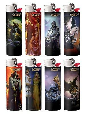 BIC Special Edition Supernatural Series Lighters, 2018-2019, Set of 8 Lighters