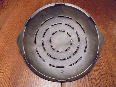 Vintage Unmarked Favorite No. 8 Cast Iron Lid Cover 9 7/8""