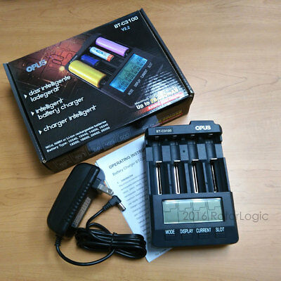 OPUS BT-C3100 V2.2 Rechargeable 18650 18500 16340 Li-ion Battery Charger - NEW!