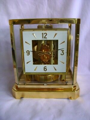 RARER SQUARE DIAL JAEGER LECOULTRE ATMOS CLOCK 528-8 IMMACULATE COND LATE 60's