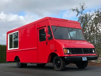 Brand New Kitchen Red Food Truck 1994 Ready To Go.