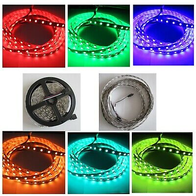 LED Stripe Streifen RGB SMD 5050 5M 60LED/M IP65 Band + 44 Tasten Controller 12V