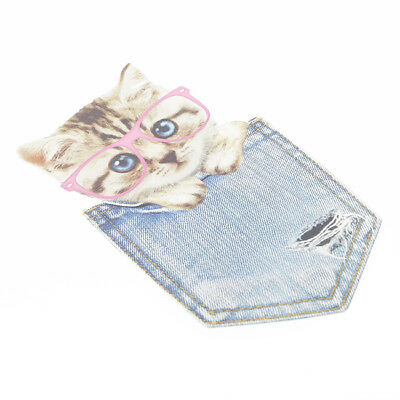 Cat Patches Iron On Transfer Applique Indian Flowers Patch Washable T'Shirt D