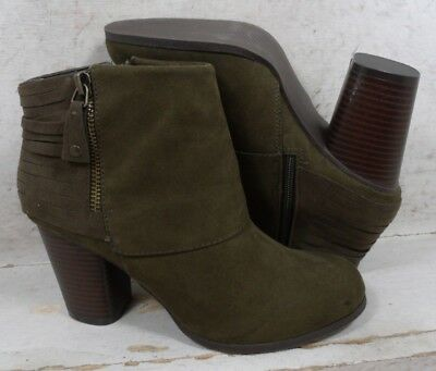 66f3d710a59 NEW Madden Girl Womens Destory Olive Ankle Boots Heels Shoes size 7.5 M