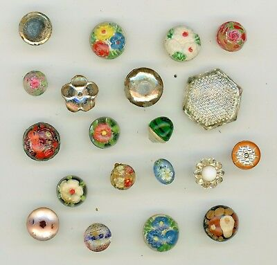 20 two piece cemented glass buttons