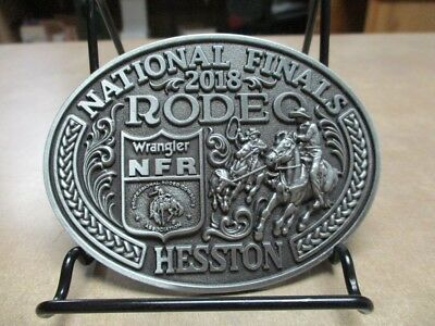 "NEW!!!!  2018 Hesston National Finals Rodeo ""Adult"" Belt Buckle"