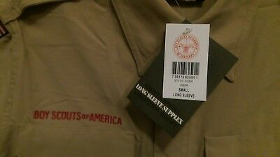 BSA official Uniform Shirt Youth 8 10 small Webelos Cub Boy Scout Pack Troop AOL