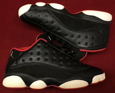 timeless design 58a9d adede JORDAN RETRO XIII 13 Low Bred Black Red White Playoffs 310810-027 Sz 12