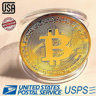 10Pcs BITCOIN Gold Plated Physical BTC Souvenir Toy Bitcoin Collection Coins
