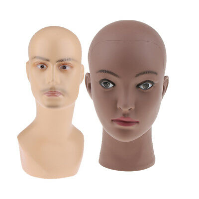 2x Fashion Mannequin Head Wig Hat Scarf Jewelry Glasses Display Stand Holder