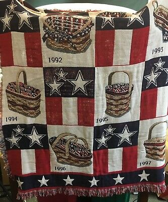 Longaberger All American Throw Blanket 1990 - 1997