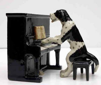 Pointer, Black/white, Playing Piano, Little Critterz, Hand Painted, Item K6731