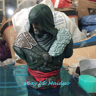 Ezio Auditore Bust Assassin's Creed Resin Statue Model Collections 6.7''H No Box