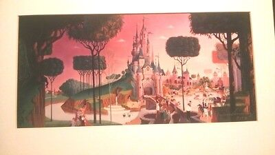 '91 Disney Gallery Belle's Castle Beauty & The Beast Print Signed Frank Armitage