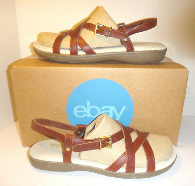 83338f99864 G.H. Bass   Co. Sunjuns  Margie  Chestnut Leather Sandals - Women s Size 8.5