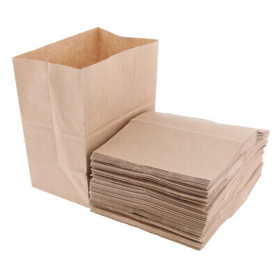 Oilproof Kraft Paper Food Packing Takeout Bags, Natural Wood Tone