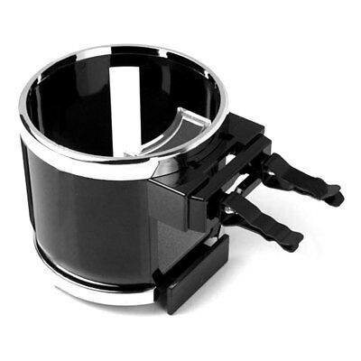 Chrome Clip on Cup Holder for Car Air Vent Holds Water Bottle Drink Cup Nice