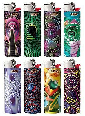 BIC Prismatic Special Edition Series Lighters, Set of 8 Lighters