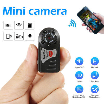 Mini Hidden Wireless WIFI Camera HD DVR SPY DIY Video Recorder Home Security CA