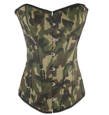 Women Camouflage Waist Trainer CIncher Shaper Steel Bone Corset For Weight Loss
