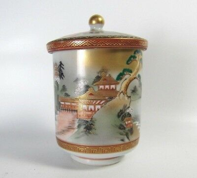 FINE! Japanese Kutani Fine Porcelain Tea Cup With Chinese Tang Poetry inside