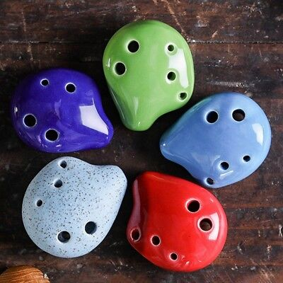 6 Hole Mini Cute Ocarina Flute Kid's Toy Musical Instruments for Christmas Gifts