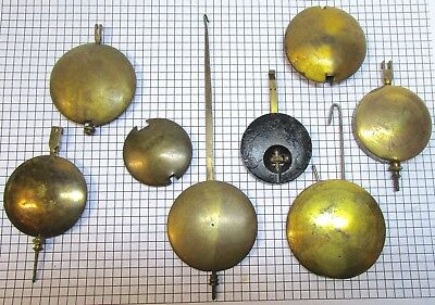 Vintage clock pendulums and bobs (2)- repairer or restorer resource- no reserve