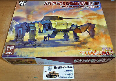WWII Fist of War German WWII E-100 Super Heavy Tank 1:72 Modelcollect UA72126