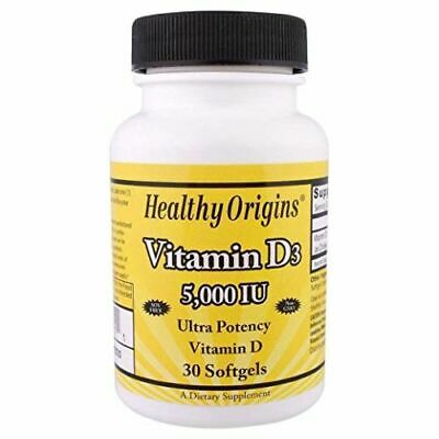 Vitamin D3 30 Softgels 5000 IU by Healthy Origins