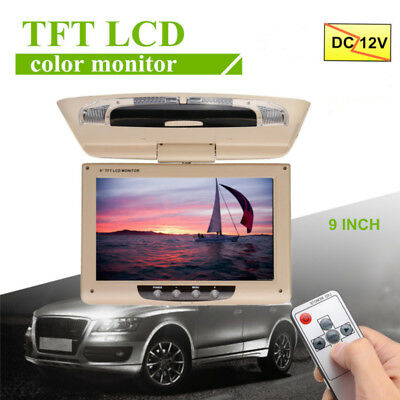 9'' Bildschirm Flip Down Kopfstütze Monitor LCD TFT Display Auto DVD HDMI Player
