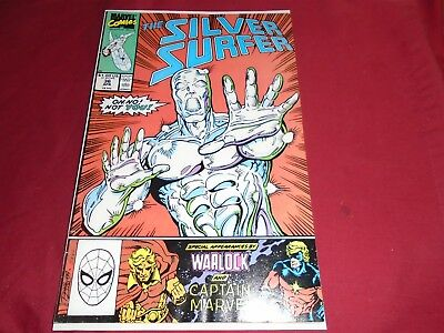 SILVER SURFER Vol. 3 #36 (1987 Series) Thanos Marvel Comics 1990 FN+