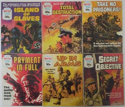Dated 1983-84. SIX x BATTLE PICTURE LIBRARY Comics #'s 1631 - 1684.