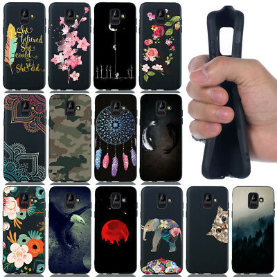 For Samsung Galaxy A6 A7 A8 2018 Shockproof TPU Silicone Slim Frosted Case Cover